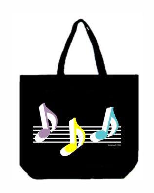 Eighth Note Trio Canvas Tote Bag