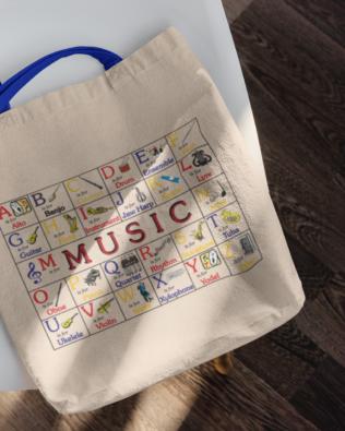 ABC Music Canvas Tote Bag