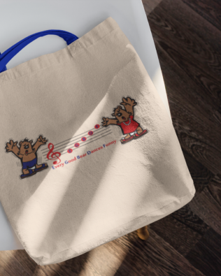 Every Good Bear Dances Funny Canvas Tote Bag