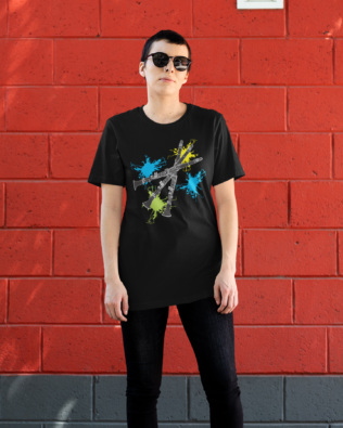 Neon Splash Clarinet T-shirt