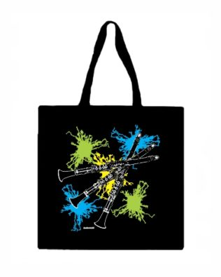 Clarinet Canvas Tote Bag