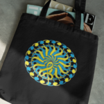 Clef Flower Canvas Tote Bag