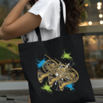 French Horn Canvas Tote Bag