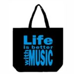 Life is Better With Music Canvas Tote Bag