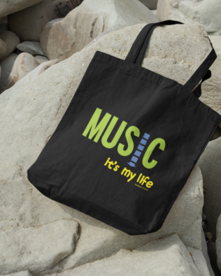 Music… It's My Life Canvas Tote Bag
