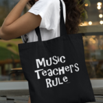 Music Teachers Rule Canvas Tote Bag