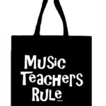 Music Teachers Rule Canvas Tote Bag