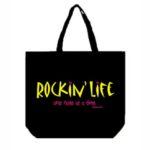 Rockin' Life Canvas Tote Bag