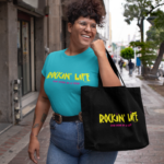 Rockin' Life Canvas Tote Bag