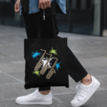 Saxophone Canvas Tote Bag