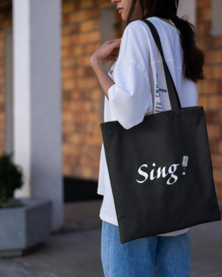 Sing Canvas Tote Bag