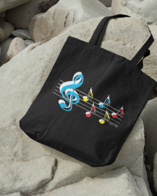 Staff & Notes Canvas Tote Bag