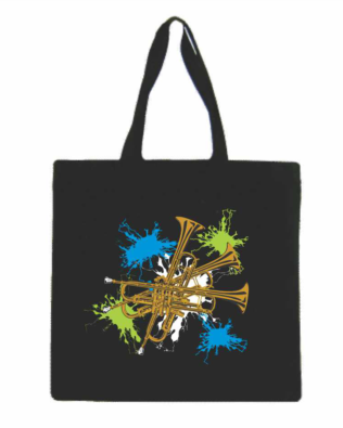Trumpet Canvas Tote Bag