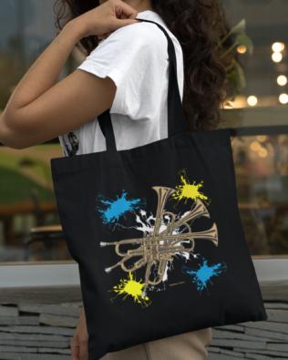 Trumpet Canvas Tote Bag