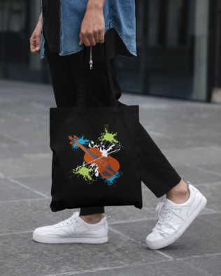 Violin Canvas Tote Bag
