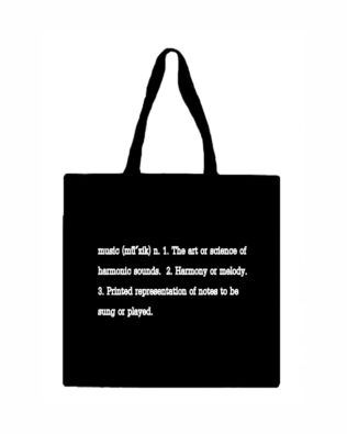 Music Definition Canvas Tote Bag