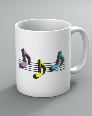 8th Note Trio Mug