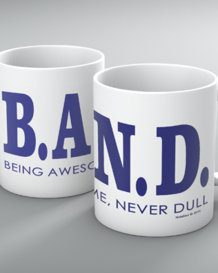 Being Awesome Band Mug