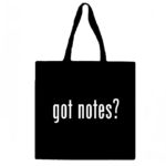 Got Notes? Canvas Tote Bag