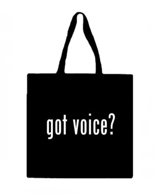 Got Voice? Canvas Tote Bag