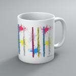 Neon Flutes Mug