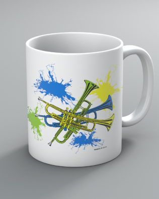 Neon Trumpet Mug
