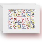 ABC Music Note Cards