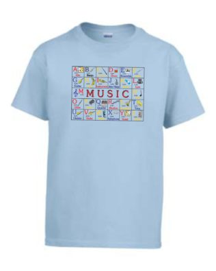 Music ABC's Youth T-shirt