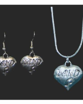 Band Necklace and Earring Set