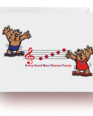 Dancing Bears Note Cards