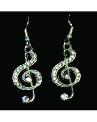 Rhinestone Clef Earrings
