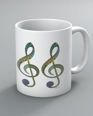 Doodle Clef Mug