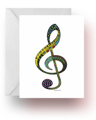 Doodle Clef Note Cards