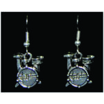 Drum Set Earrings