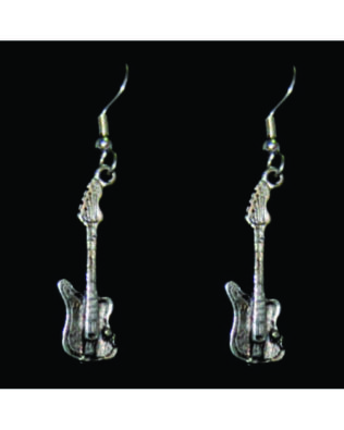 Small Electric Guitar Earrings
