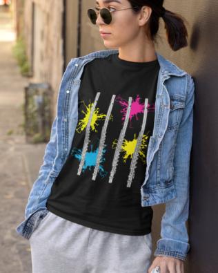 Neon Splash Flute T-shirt