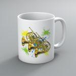 Neon French Horn Mug