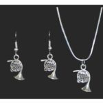 French Horn Necklace and Earring Set