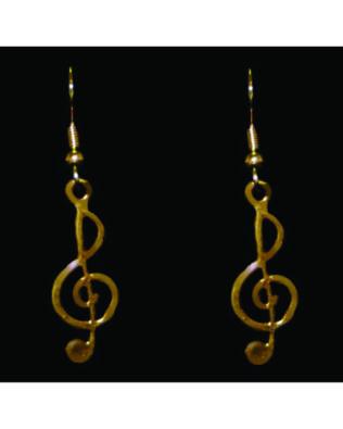 Gold-tone Treble Clef Earrings
