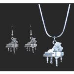 Grand Piano Necklace and Earring Set