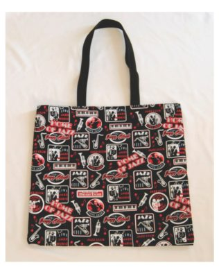 Jazz Club Cotton Print Tote Bag