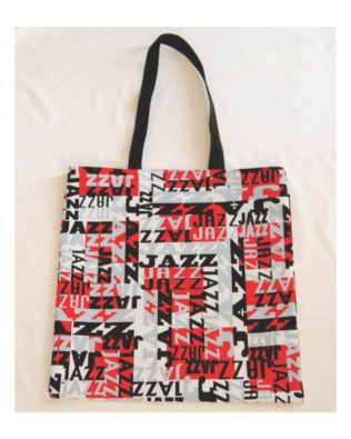 Jazz Cotton Print Tote Bag