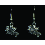 I Love Music Earrings