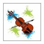 Neon Violin Magnet