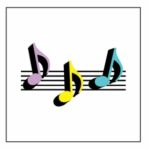 Eighth Note Trio Magnet
