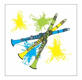 Neon Clarinets Magnet