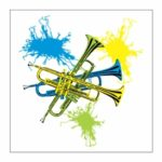 Neon Trumpets Magnet
