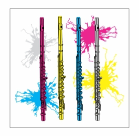 Neon Flutes Magnet