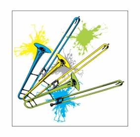 Neon Trombones Magnet