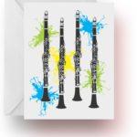 Neon Splash Clarinets Note Cards